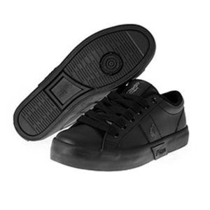 POLO RALPH LAUREN  •Giles• Black Leather Sneaker -